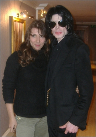 Celine Lavail with Michael Jackson