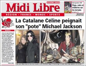 Celine Lavail in the Midi Libre