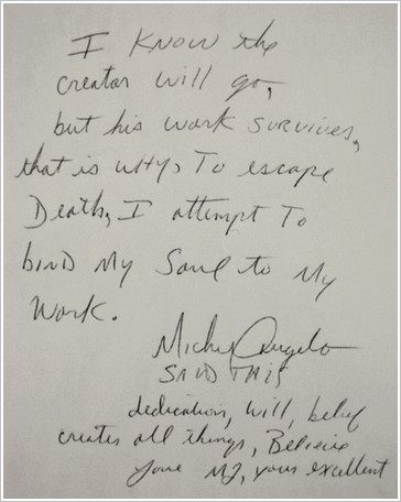 Message de Michael Jackson à Céline