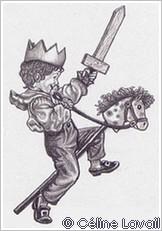 Enfant à l'épée dessiné par Céline Lavail