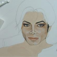 Création du tableau «Paradox» – 75x50cm – Acrylique