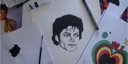 Création du visuel «Thriller» – 30x20cm – Encre