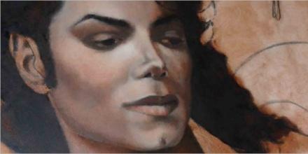 Création du tableau «Icon» – 100x100cm – Huile sur bois