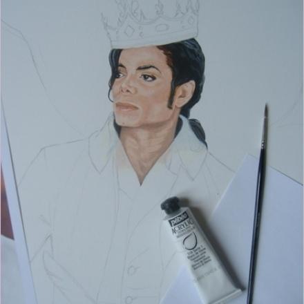 Création du tableau «Allegory» – 75x50cm – Acrylique